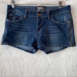 Thrill Junior's Zip Jean Shorts